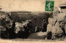 CPA PARIS 19e Buttes -Chaumont - Panorama prise des Rochers (301933)