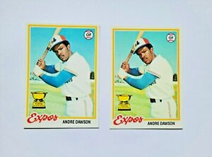 1978 Topps Andre Dawson Rookie Cup Lot (2 Cards) Near Mint NM
