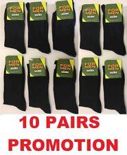 12 Pairs Pack Ladies Socks Black Coloured Toe and Heel Cotton 4-7 BPLRT