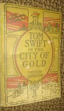 Vintage 2 books-Tom Swift In The City of Gold, and His Giant Cannon Appleton