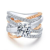 HOT 925 Silver White Topaz Set Infinity Ring Fashion Women Wedding Party Jewelry