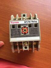 Furnas MT/ 46 Control Relay 600 Volt 10 Amp Max, Cat 46MT40, 110 V Coil