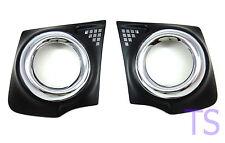 Fitt Fog Lamp Spot Lights Chrome Black Cover Fit Mitsubishi Triton L200 2015 17
