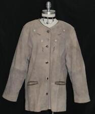LEATHER ~ BROWN Women GERMAN Hunting Western Sport Winter JACKET Coat Eu 46 14 L
