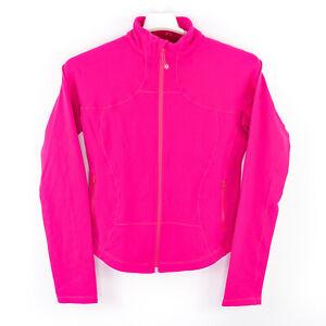 LULULEMON Pink Full Zip Stretch Athletic Track Jacket Womens Size 8 EUC