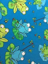Fabric-Frogs C4816, sold by the yard.