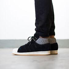 Adidas Para Hombres Niños Pro Modelo Bt Hi Top Zapatillas Zapatos Negro AQ8159 Reino Unido 6 a 12