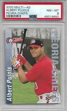 Albert Pujols 2000 Peoria Chiefs FIRST YEAR BLUE ISSUE PSA 8 NICE RC! QTY ANGELS
