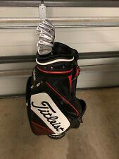 Titleist AP2 718 Irons 3-PW Project X 5.5 Stiff Shafts + Titleist 10 inch Bag