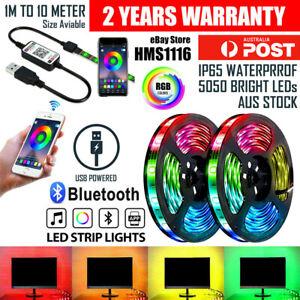 RGB LED Strip Lights IP65 Waterproof 5050 10M 5M 300 LEDs 12V 5V USB Bluetooth