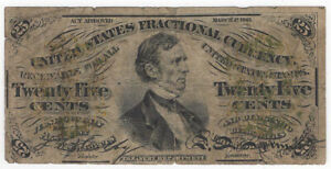 25 Cents 3rd Issue Fractional Currency Fr#1294
