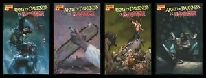 Army of Darkness vs Re-Animator Variant Comic Set 1-2-3-4 Lot C Zombie Horror