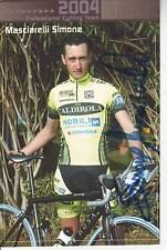 CYCLISME carte cycliste SIMONE MASCIARELLI équipe VINI CALDIROLA 2004 signée