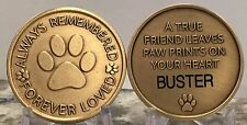 Personalized Engraved Pet Dog Memorial Always Remembered Forever Loved Medallion