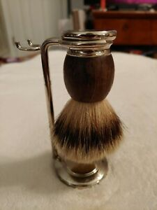 Baxter Of California Badger Hair Shave Brush Shaving USA w/ Stand