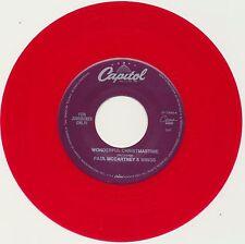 "PAUL McCARTNEY (Beatles) 45 single COLORED Vinyl ""Wonderful Christmas""/""Rudolph"""
