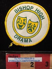 Hat/Jacket Patch BISHOP HIGH DRAMA THESPIAN COMEDY TRAGEDY MASKS GREEK MUSE 62E3