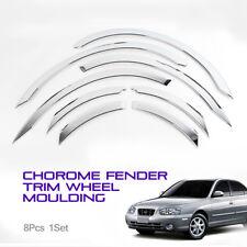 Wheel Fender Chrome Lip Cover Guard Molding Trim 8Pcs For HYUNDAI 01-06 Elantra