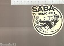 ADESIVO ANNI '70/'80 - SABA TV-RADIO-HIFI GIALLO  - VEDI FOTO