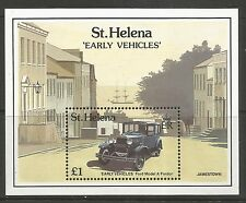 ST HELENA. 1989. Early Motor Vehicles Miniature Sheet. SG: MS557. MNH.