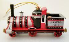 Vintage Kurt Adler Santa's World Metal Train Ornament
