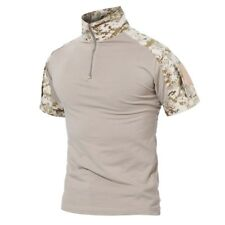 e99eeeacc44 TACVASEN Mens Cotton Tactical Shirt Short Military Camo Moisture Wicking T- Shirt