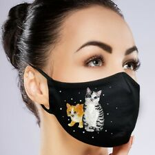 Facemask Black Washable Embroidery Rhinestone with Filter Pocket