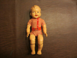 VINTAGE EARLY 1950s DANNY BOY SOFT SQUEEZE RUBBER MALE CUTE LITTLE BOY DOLL TOY