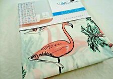 SPLASH HAVEN PINK FLAMINGO TROPICAL OCEAN  PEVA VINYL SHOWER CURTAIN LINER 70X72