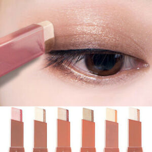 Gradient Shimmer Double Colors Upgraded Rotation Eyeshadow Stick Glitter Matte
