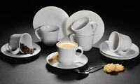 Alessi KU 2 4 6 Porcelain Cups & Saucer Espresso Coffee Ceramic Gift Boxed Set