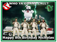 Ghostbusters Edible Icing Image Personalised Birthday Party Cake Topper