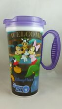 Disney Parks Travel Mug Mickey Minnie Mouse PURPLE, New Old Stock Never Used