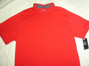 NWT UNDER ARMOUR Polo Shirt,2XL,Red,HEAT GEAR,Loose Fit,Cotton Blend,Sport Top