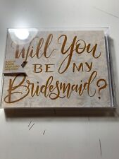 will you be my bridesmaid cards Lily&Val