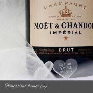 Personalizado Esmerilado Corazón Boda Mesa Decoraciones. Mr&Mrs Favores Confeti