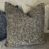 Cushion Pillow Cover Made In JOHN LEWIS Fabric , Steel & Grey Modern Home Decor