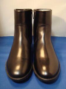 "Salvatore Ferragamo ""SOFFIO"" Black Leather Ankle Zip Men's Boots 6 1/2 EE RARE!"