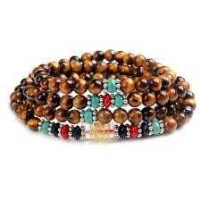6mm Tibetan Buddhism 108 Tiger's eye Prayer Bead Mala Necklace