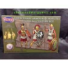 28mm Armoured Mercenary Hoplites By Victrix, Hail Caesar, Swordpoint Ancients