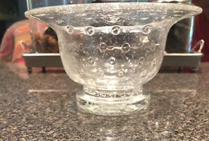 Southern Living at Home Tiny Bubbles Bowl Footed 40351