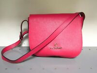 Valentino Leather Tie Flap Shoulder Bag Fuschia Pink