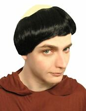 Deluxe Monk Wig Fryer Tuck Fancy Dress Vicar Bald Head Athelstan Vikings