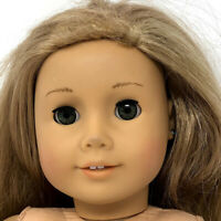 "American Girl 18"" Doll With Long Blonde Hair Green Eyes Teeth Pierced Ears"