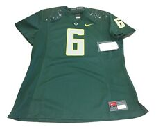 NWT NEW Oregon Ducks Nike #6 Womens Game Replica Green Football Jersey Medium