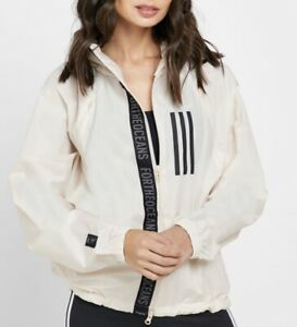 Adidas Women's W.N.D. Parley Jacket NWT Ivory Lightweight Water Repellent