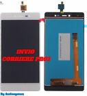 P1 DISPLAY LCD+TOUCH SCREEN per WIKO FEVER 4G VETRO BIANCO MOBILE RICAMBIO NUOVO