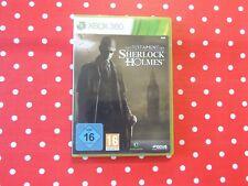 Das Testament des Sherlock Holmes Xbox 360 IN Emballage D'Origine avec Manuel