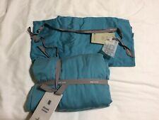 West Elm Organic Tencel Solid Blue Teal  F/Q Duvet Full/Queen W/ 2 Pillow Cases