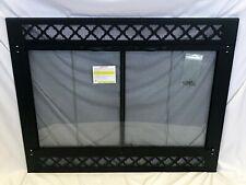 "Stoll Wood Prefab Fireplace Reface Textured Black Bi-Fold Doors 38 3/8 x 30 7/8"""